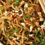 Diet Zucchini Hakka Noodles